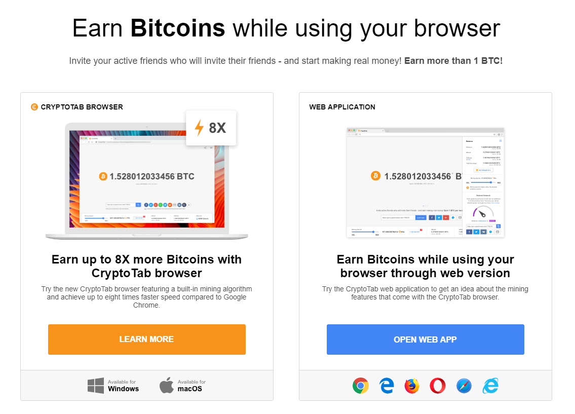 Cryptotab :: Earn Bitcoins while using your browsers — WEKU