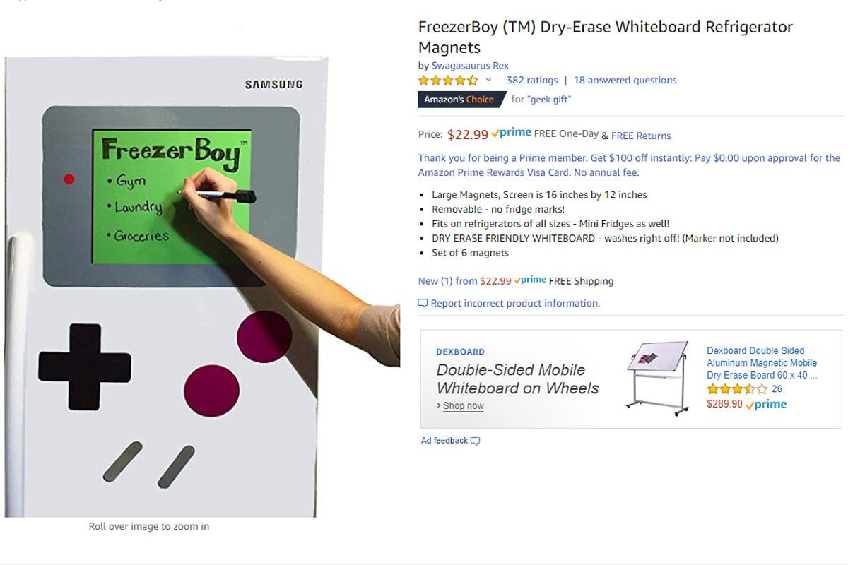 Geekinsider - freezerboy dry erase whiteboard magnets