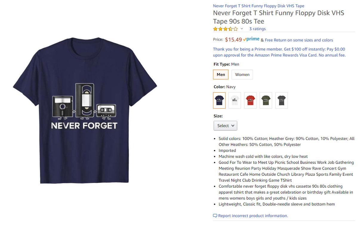 Geek insider - never forget novelty t-shirt