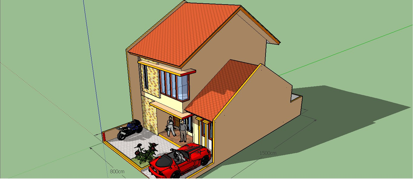 Easy Ways To Make A Minimalist Two Story Home With Google Sketchup